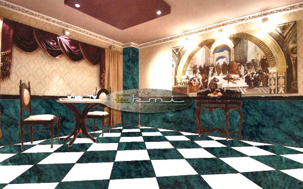 Green marble flooring designs with price kishangarh for Bedroom marble flooring designs